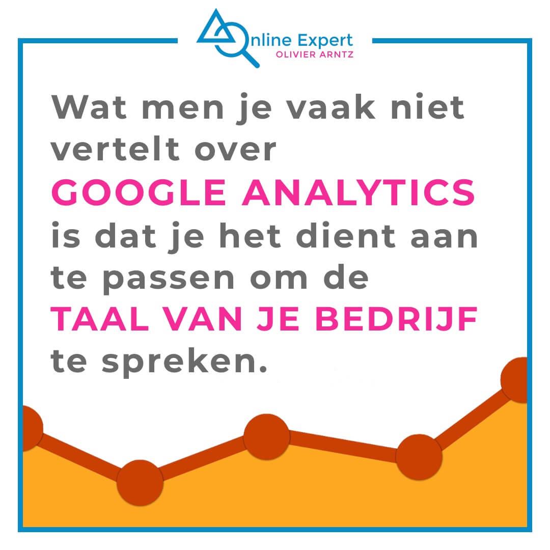 Pas Google Analytics aan om de taal van je bedrijf te spreken.